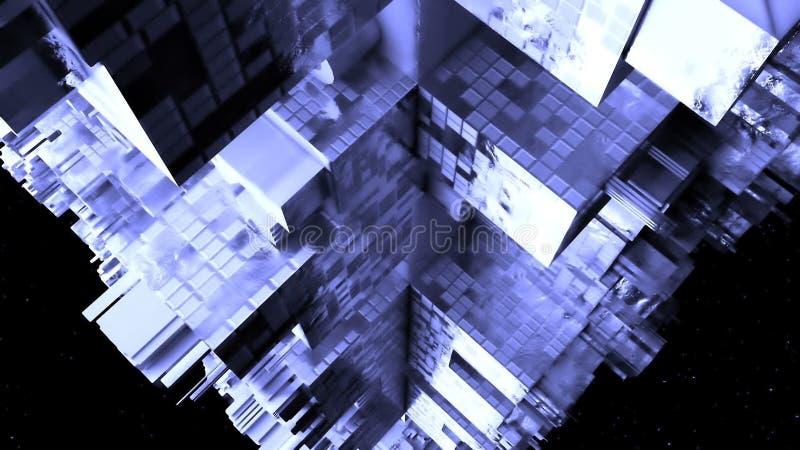 Abstraktes Sciencefictionsraumschiff stockfoto