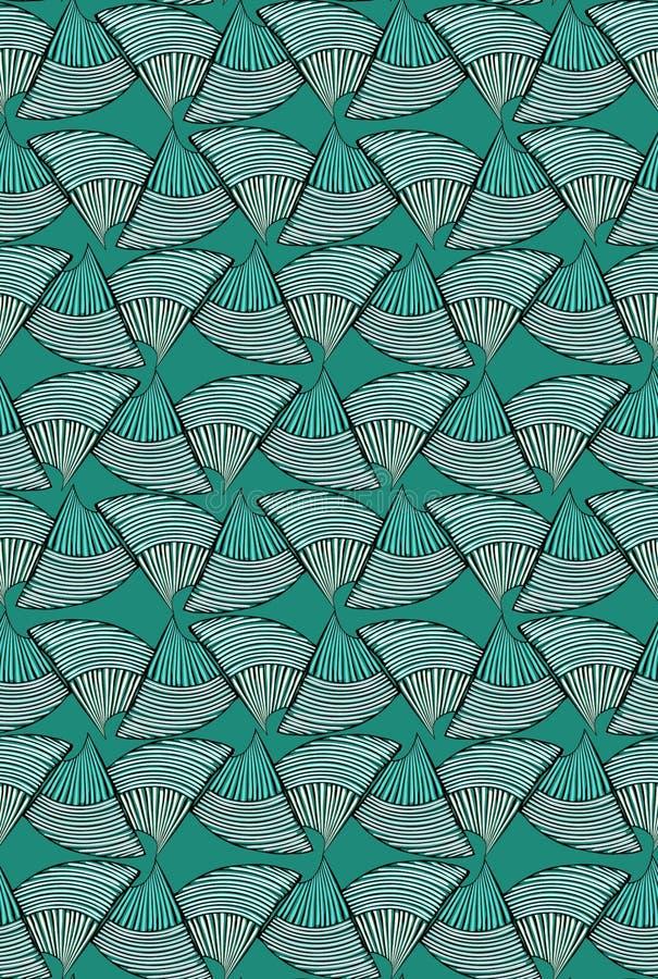 Abstraktes Seeoberteil auf Grün vektor abbildung