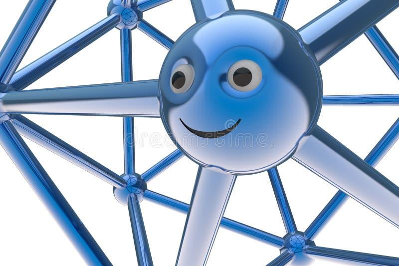 Abstraktes smileysymbol des Moleküls 3d stock abbildung