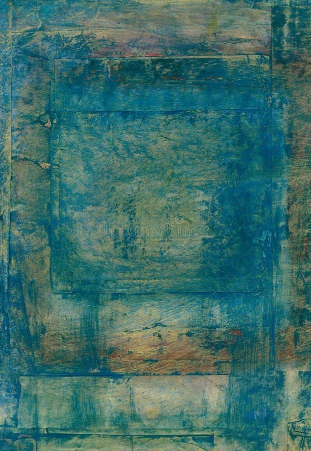 Abstraktes subtiles blaues Quadrat stock abbildung