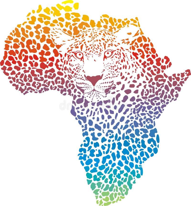 Abstraktes Symbol Afrika im Leoparden lizenzfreie abbildung