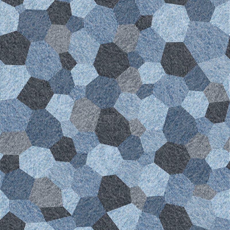Abstraktes Täfelungsmuster - nahtloses Muster, Blue Jeans-Beschaffenheit vektor abbildung