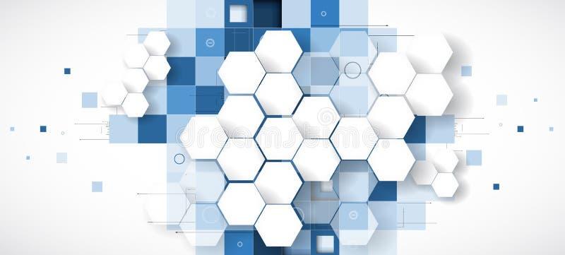 Abstraktes Technologiehintergrund Geschäft u. Entwicklungsrichtung lizenzfreie abbildung