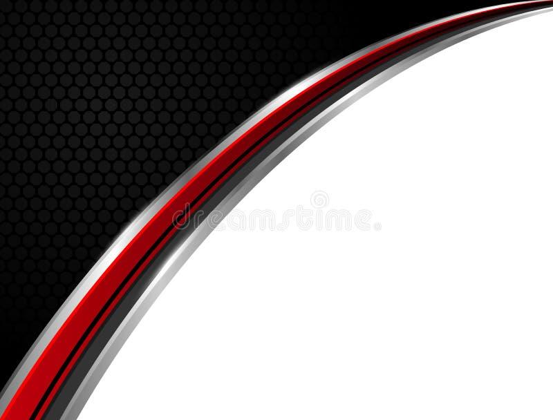 Abstraktes Technologiehintergrund-Vektorgeschäft rot und schwarz lizenzfreie abbildung