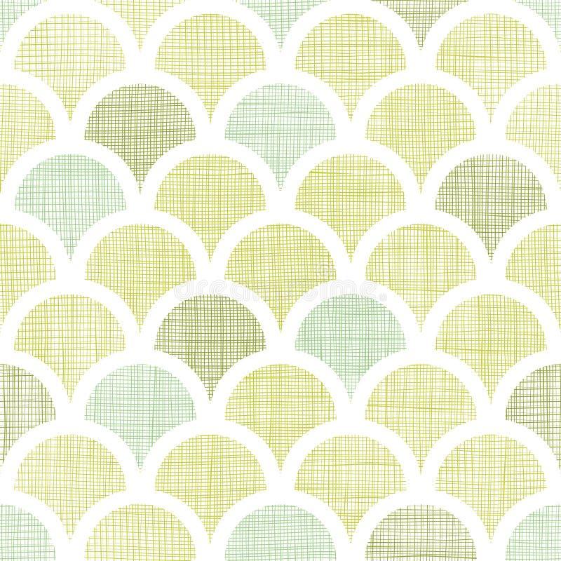 Abstraktes Textilgrün fishscale nahtloses Muster vektor abbildung