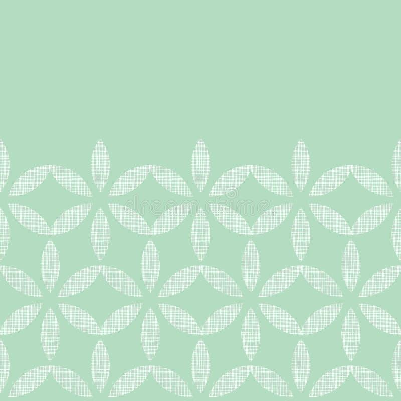 Abstraktes Textilminzengrün verlässt geometrisch lizenzfreie abbildung