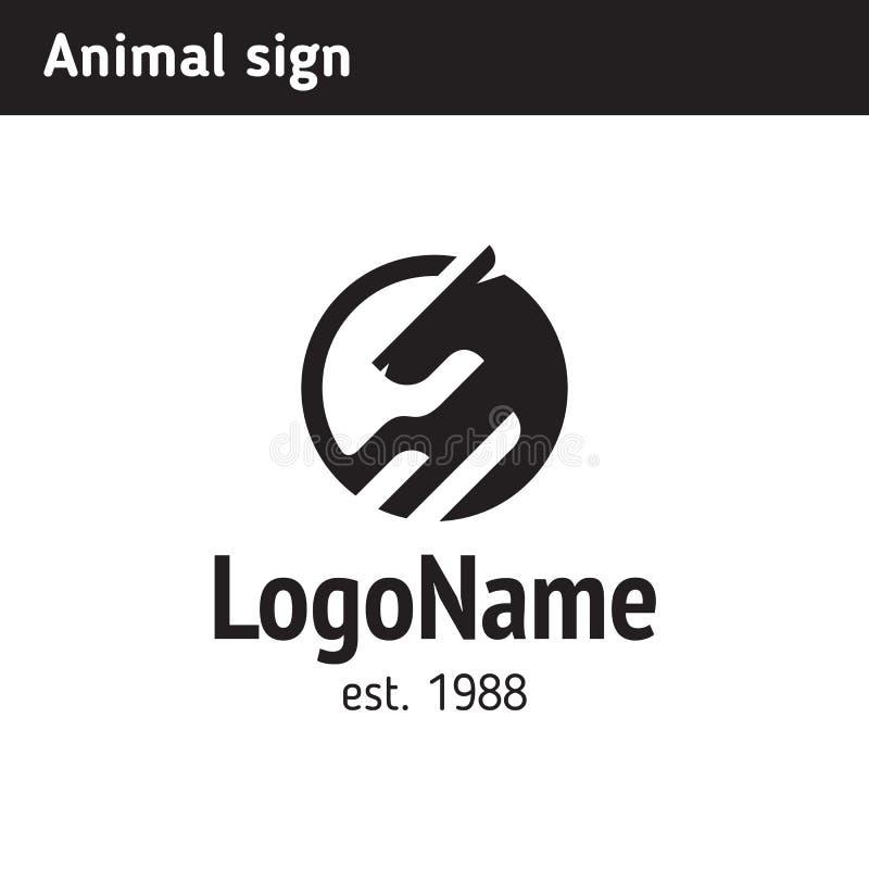 Abstraktes Tierlogo lizenzfreie abbildung