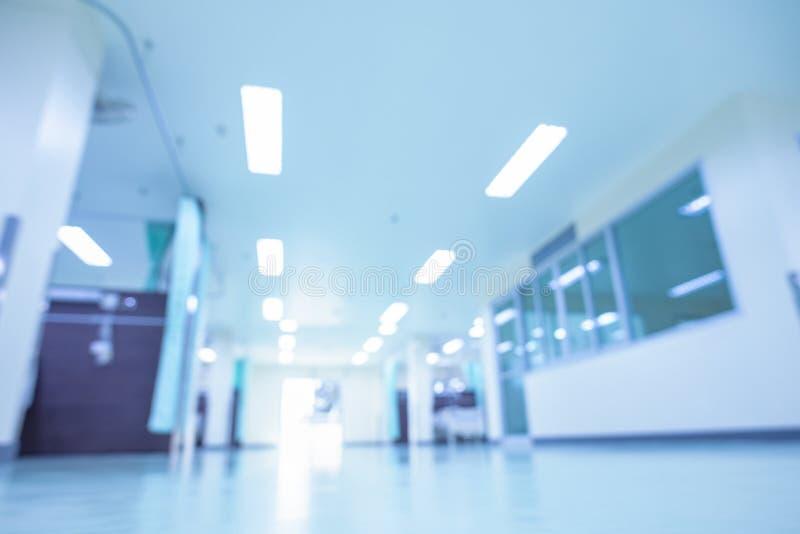 Abstraktes Unschärfekrankenhaus Innen für Hintergründe stockbilder