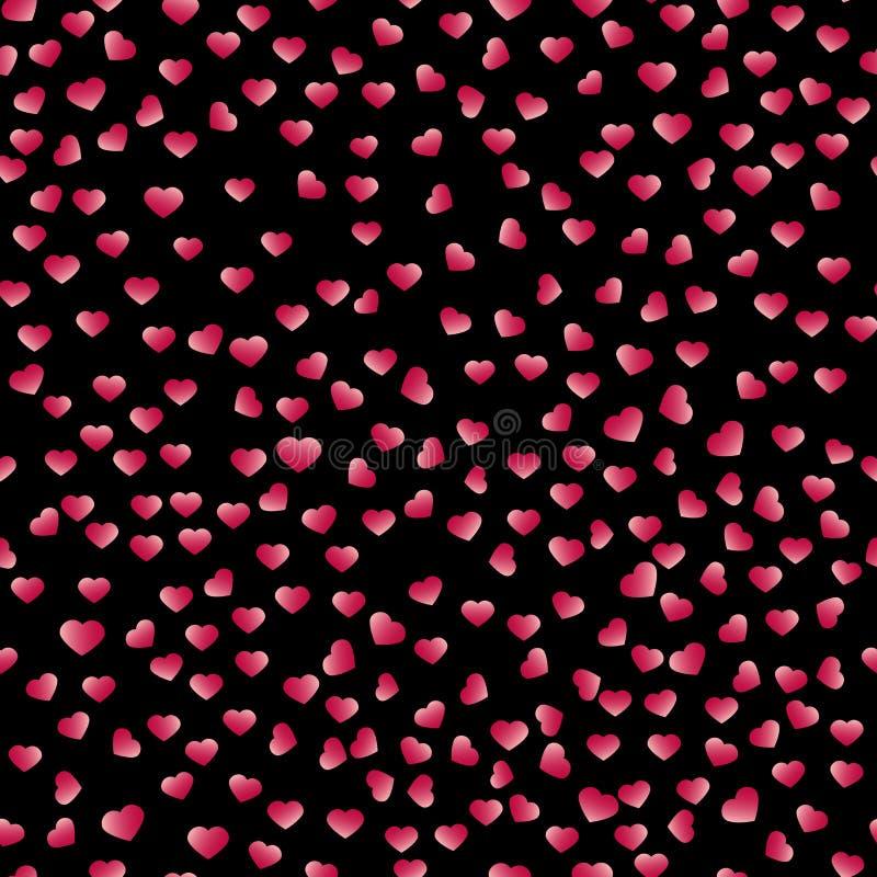 Abstraktes Valentine& x27; s-Tagesherzen Zwei Innere Nahtloser Hintergrund für Ihren Entwurf Auch im corel abgehobenen Betrag Zu  lizenzfreie abbildung