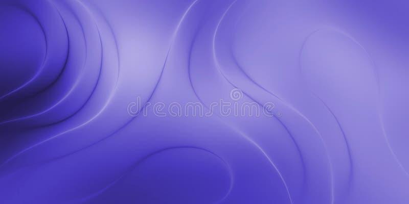 Abstraktes Vektorblau schattierte gewellten Hintergrund, Vektorillustration lizenzfreie abbildung