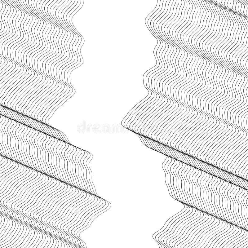 Abstraktes Vektorgestaltungselement lizenzfreie abbildung