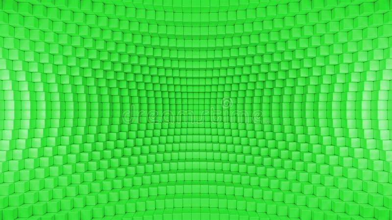 Abstraktes verzerrtes Kasten-Hintergrund-Grün stock abbildung