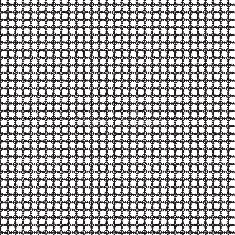 Abstraktes Verzierungs-Quadrat nahtloser Dots Pattern Background Vector Illustration vektor abbildung