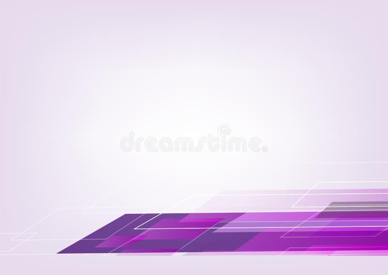 Abstraktes violettes geometrisches Formvektor-Hintergrunddesign für Ihren Inhalt stock abbildung