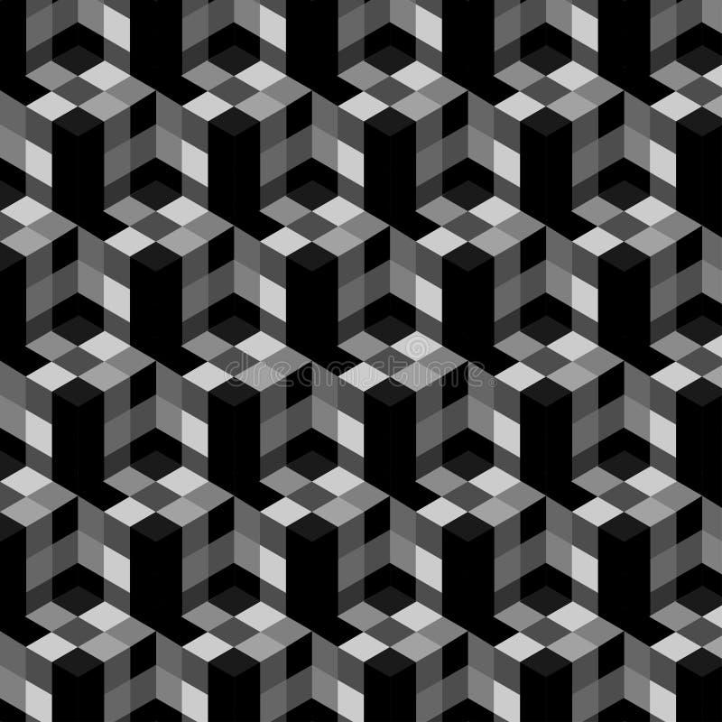Abstraktes Würfel-Muster Buntes Design, geometrische Tapete des Vektors 3d, Würfelmusterhintergrund stock abbildung