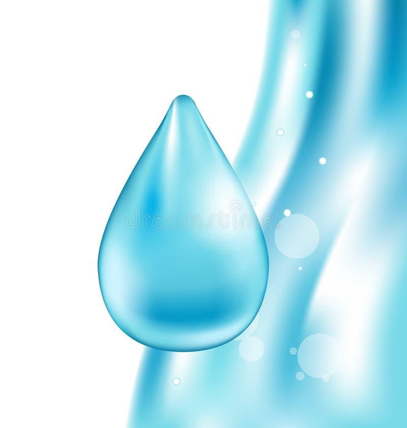 Abstraktes Wasser-gewellter Hintergrund mit Tropfen vektor abbildung