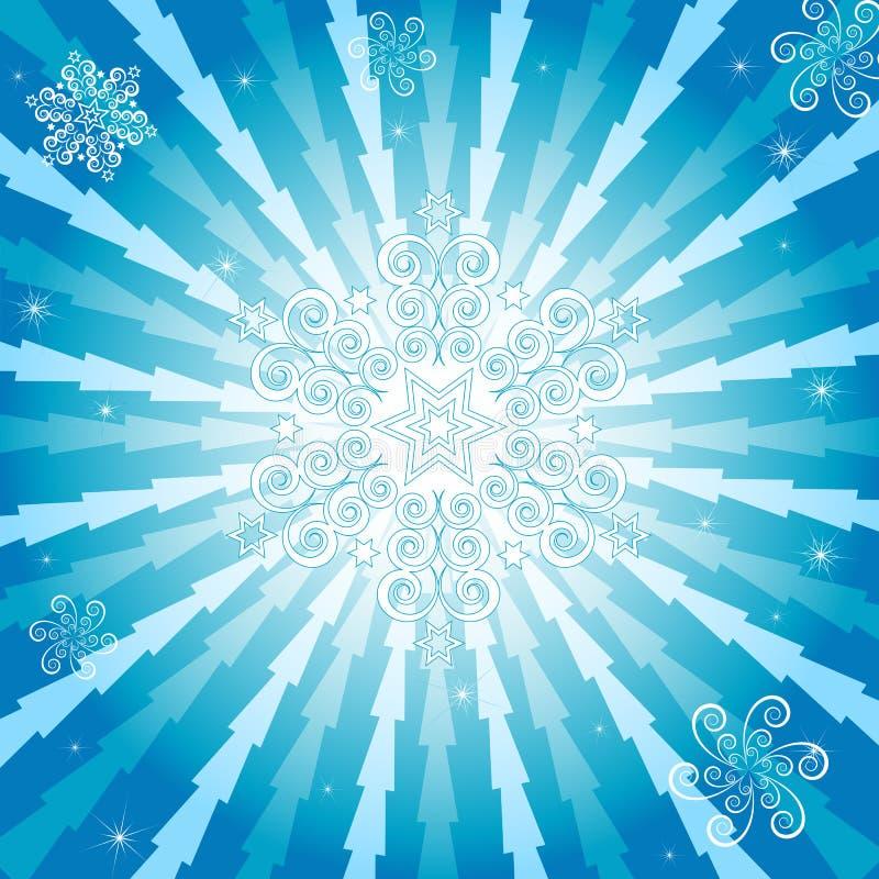 Abstraktes Weihnachtsblauer Hintergrund (Vektor) vektor abbildung