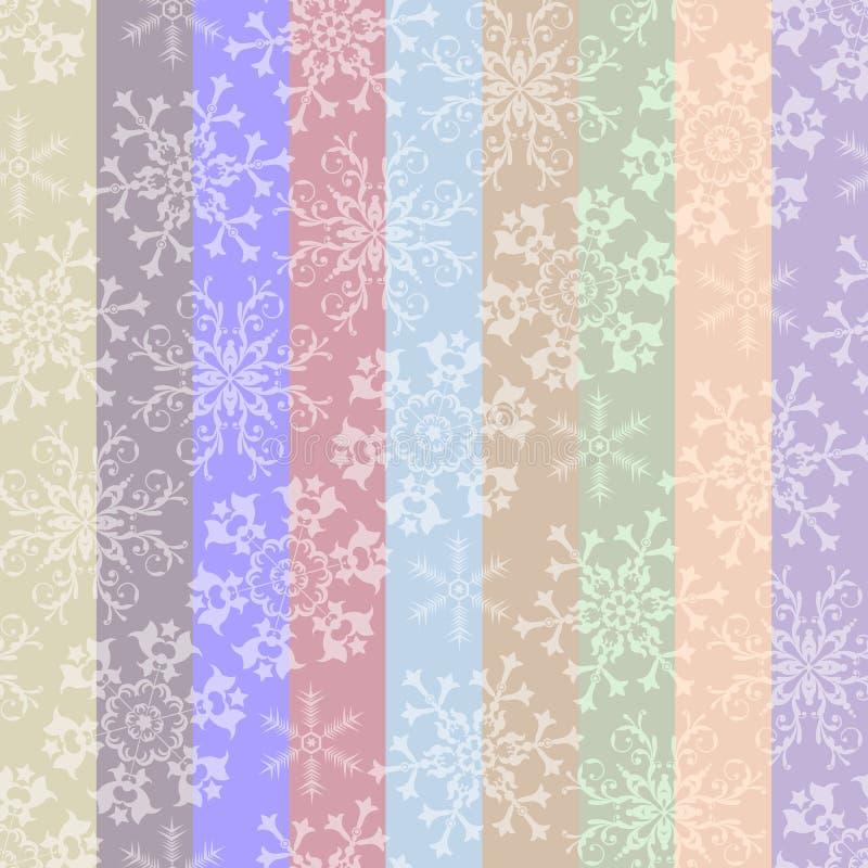 Abstraktes Weihnachtsgestreiftes nahtloses Pastellmuster stock abbildung