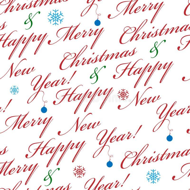 Abstraktes Weihnachtsnahtloser Hintergrund vektor abbildung