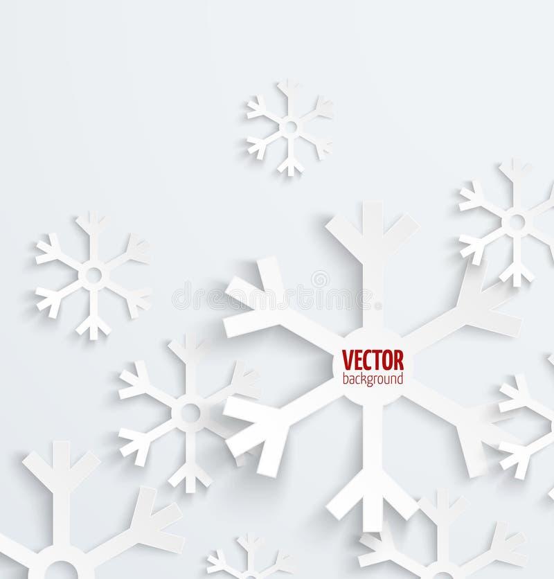 Abstraktes Weihnachtsschneeflocken-Papier 3D backbround lizenzfreie abbildung