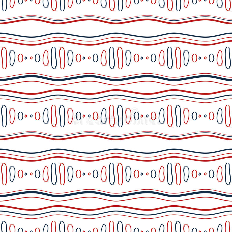 Abstraktes wellenförmiges nahtloses Muster stock abbildung
