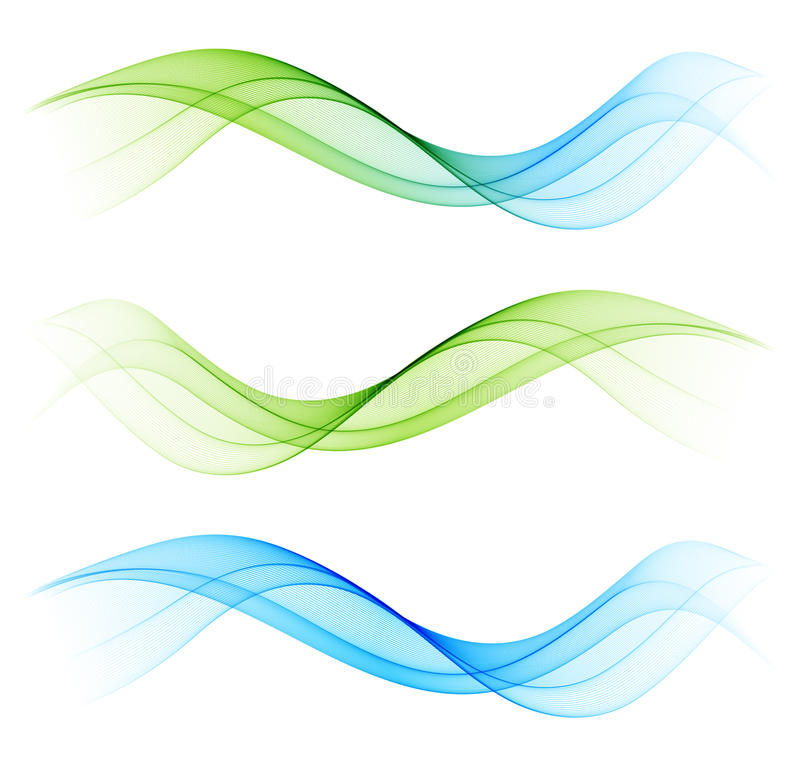 Abstraktes Wellengestaltungselement lizenzfreie abbildung