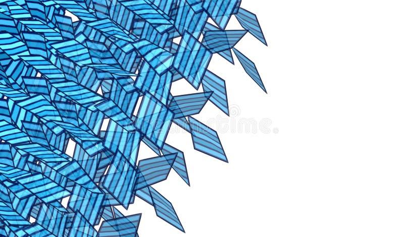 Abstraktes zersplitterte Form des Sprays der Graffiti weiches Blau vektor abbildung