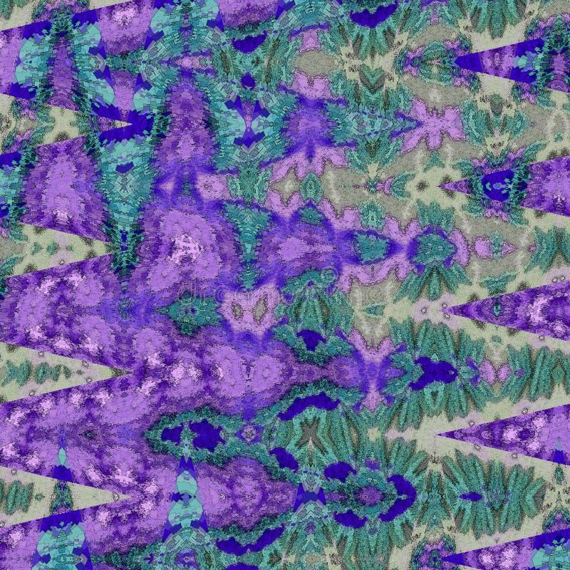 Abstraktes Zickzackmuster in der Knickente, im Blau, im Indigo und im Türkis vektor abbildung