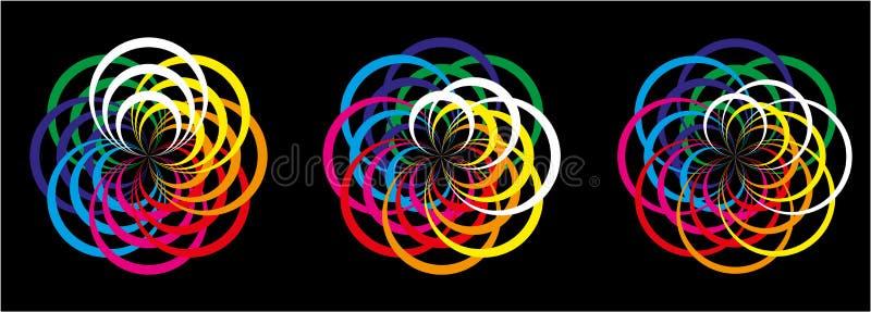 Abstraktion av samarbete vektor illustrationer