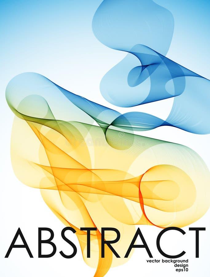 Abstraktion en hägring i öknen vektor illustrationer