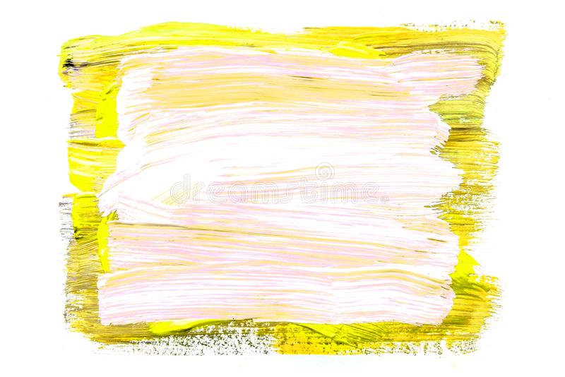 Abstraktion für den Hintergrund, rechteckiges Muster von mehrfarbigen Farben auf einem weißen lokalisierten Hintergrund stockfotografie
