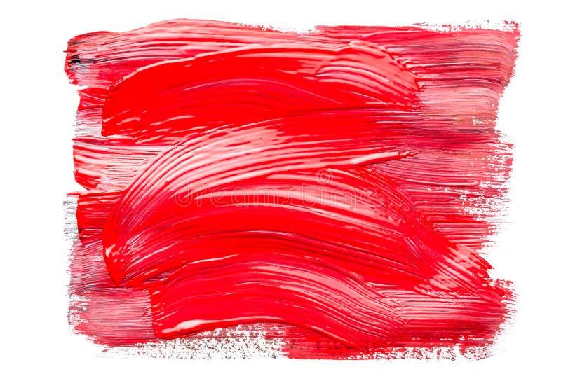 Abstraktion f?r Hintergrund, rechteckiges Muster mit roter Farbe auf wei?em lokalisiertem Hintergrund stockfotos