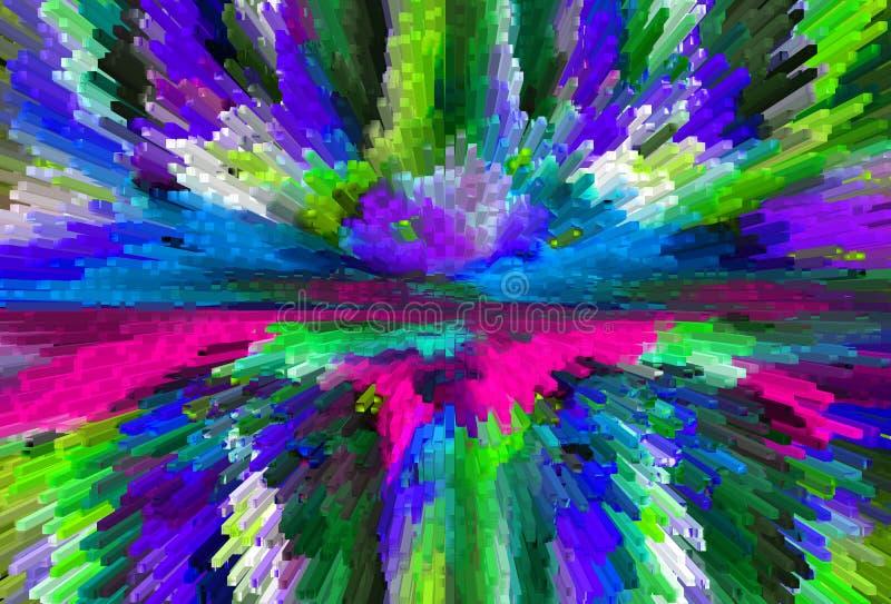 abstraktion Grafik m?lning Abstrakt begrepp konst stock illustrationer
