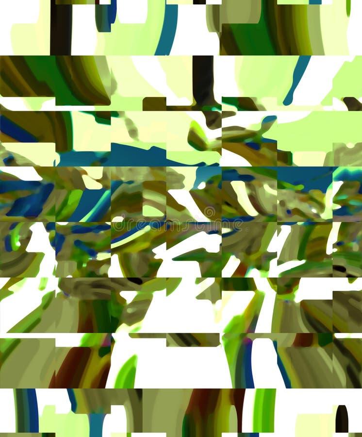 Abstraktion Grafische K?nste Anstrich Auszug Kunst stock abbildung