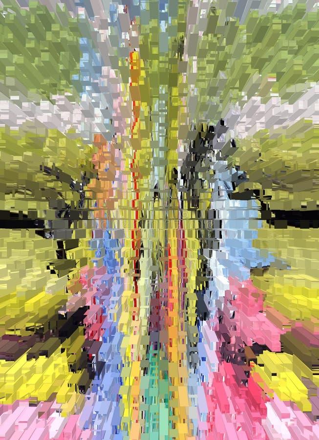 Abstraktion innen graphik Anstrich Auszug Kunst abbildung Entwurf vektor abbildung