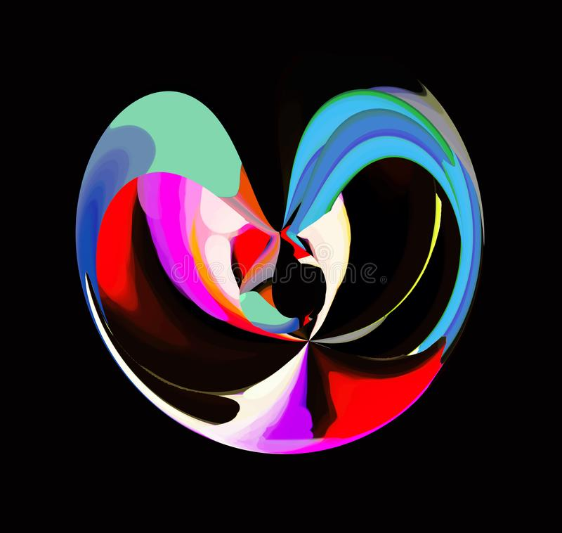 Abstraktion innen graphik Anstrich Auszug Kunst abbildung Entwurf stock abbildung