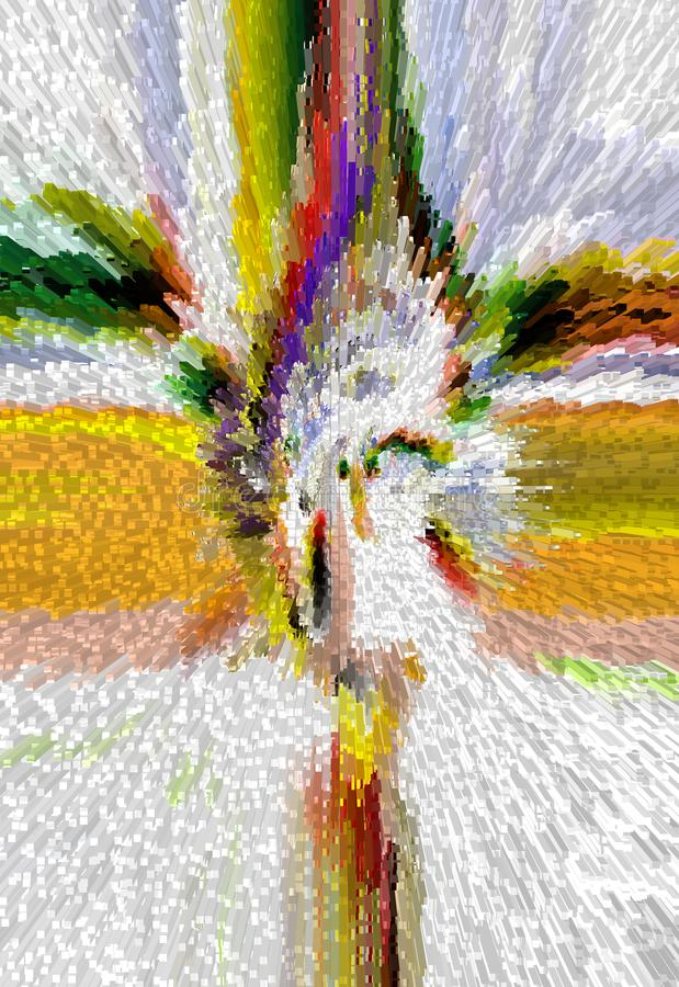 Abstraktion innen graphik Anstrich Auszug Kunst abbildung Entwurf lizenzfreie abbildung