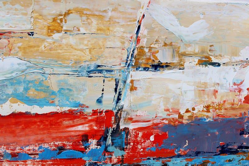 abstraktion målad bakgrundshand Fragment av konstverk arkivfoto