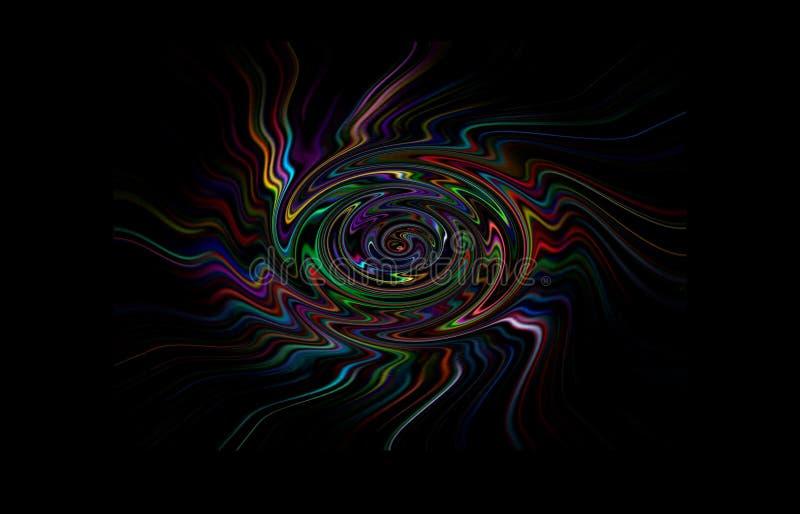 Abstraktionbubbelpool av olika färger, linjer och cirklar vektor illustrationer