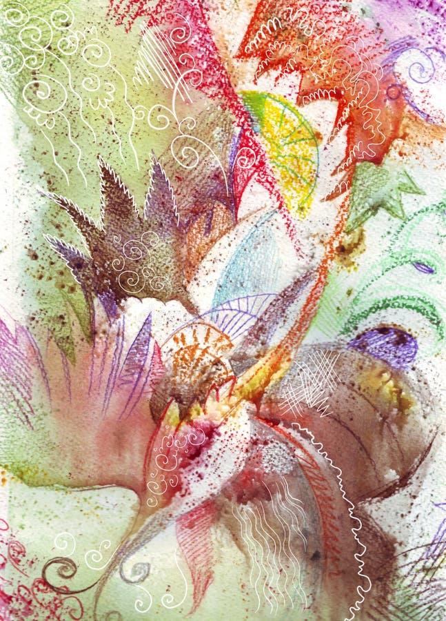 abstraktionfärg stock illustrationer