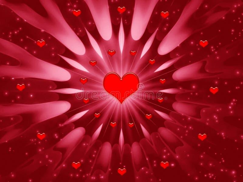 Abstraktionskarte für Feiertage - Valentinsgrußtag vektor abbildung
