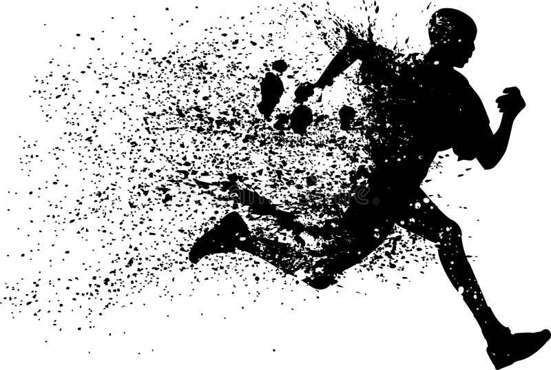 Abstraktionsvektorillustration des Siegers lizenzfreie abbildung