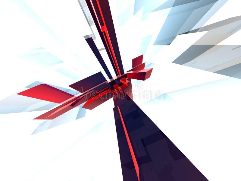 abstraktum 4 vektor illustrationer