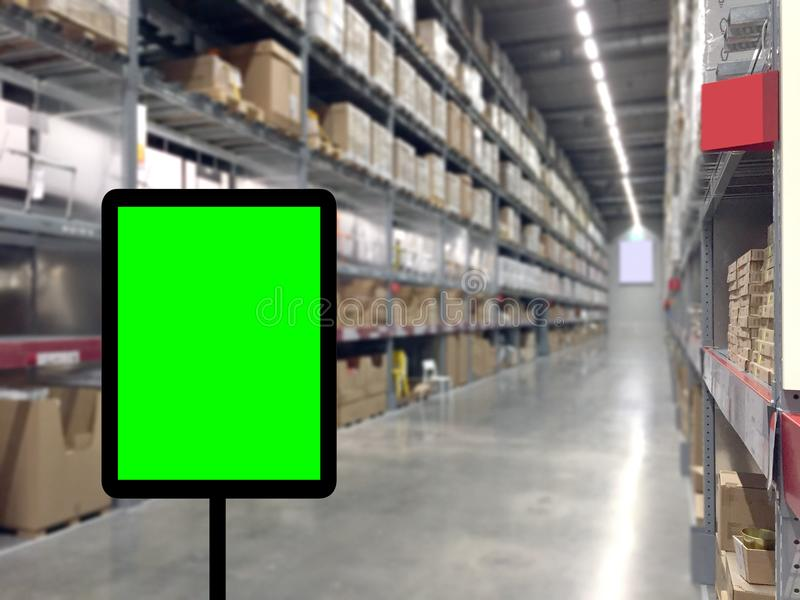 Abstrast Blurred background : Warehouse carg royalty free stock photography
