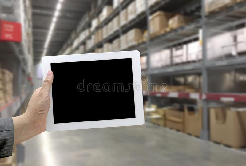 Abstrast Blurred background : Warehouse carg stock images