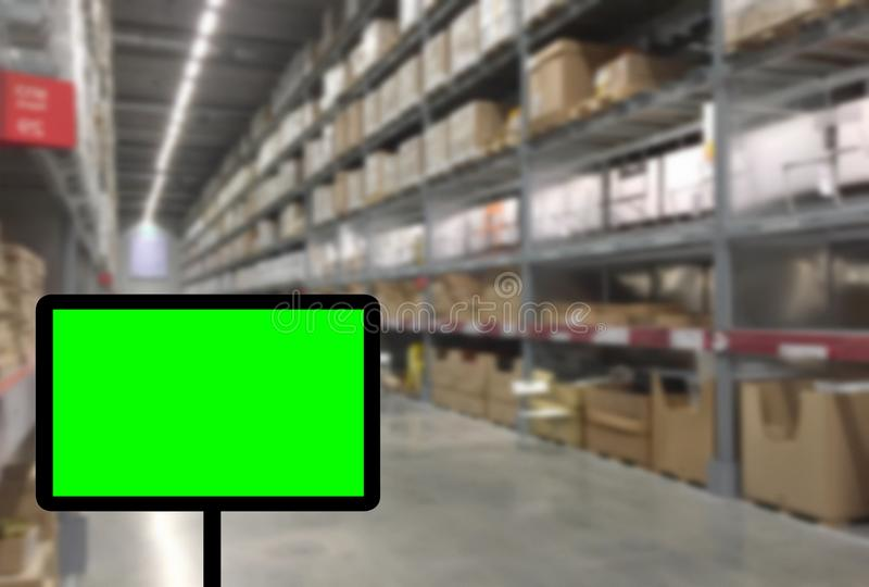 Abstrast Blurred background : Warehouse carg stock photo