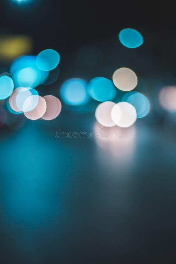 Abstrat de la falta de definición del fondo de la ciudad de la noche de Bokeh fotografía de archivo