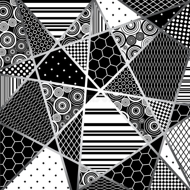 Abstratcion黑色和人 库存例证