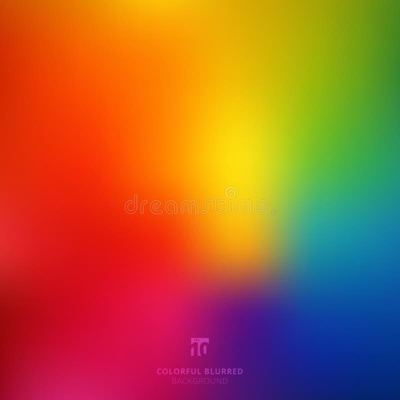 Abstrato alise o inclinação brilhante colorido borrado m da cor do arco-íris ilustração stock
