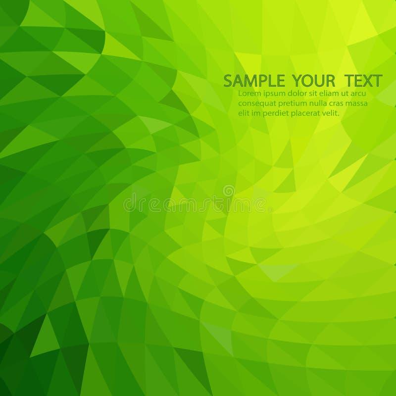 Abstrato ilumine - o fundo poligonal verde do mosaico, fundo moderno, baixo estilo poli ilustração royalty free